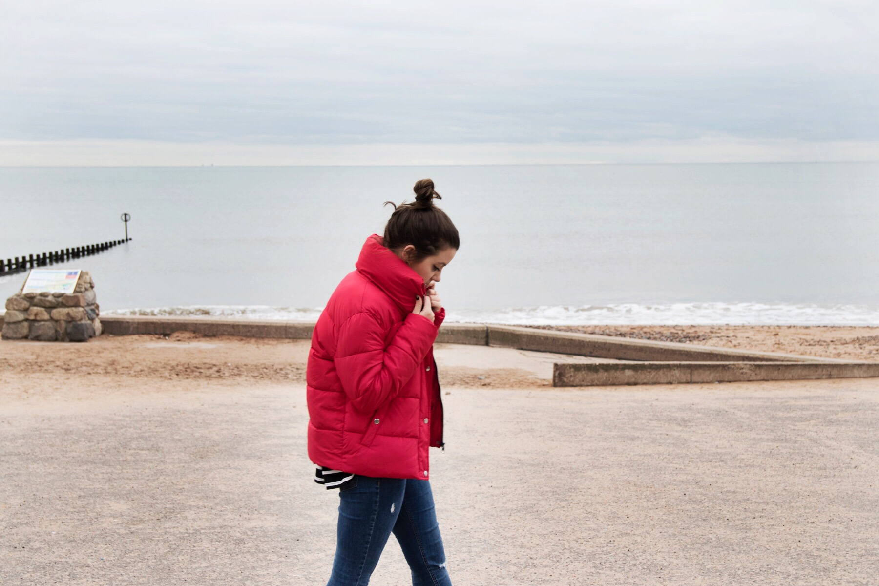 Red Padded Jacket Primark