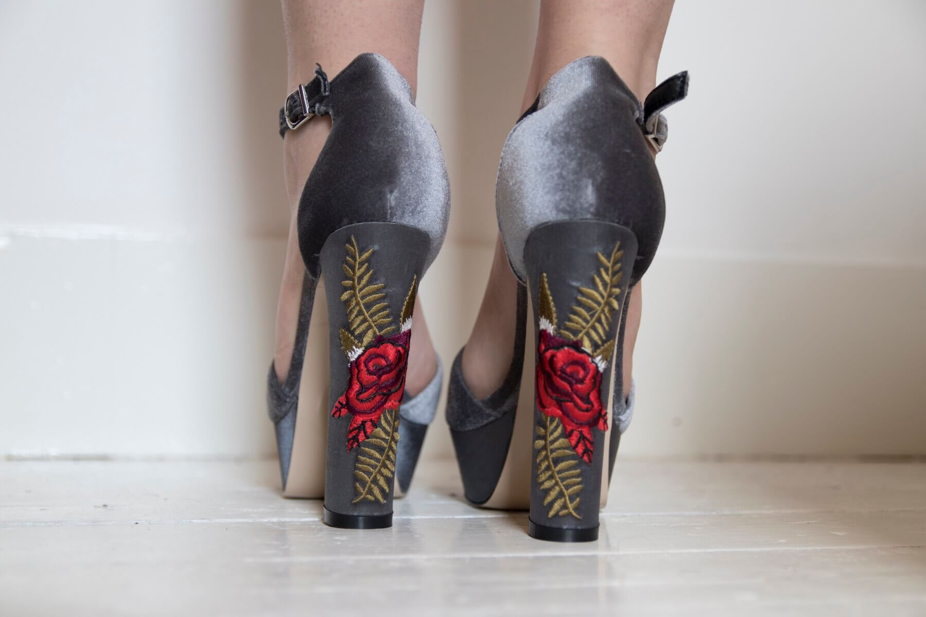 Embroidered Heels