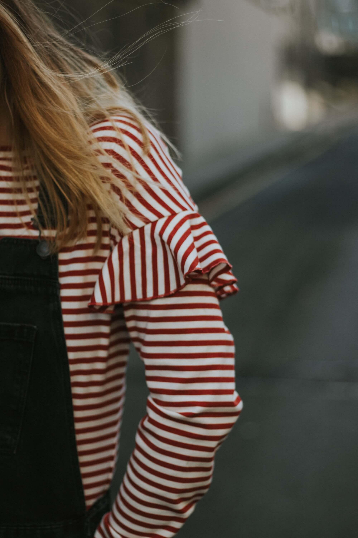 Close Up Of Striped H&M Top