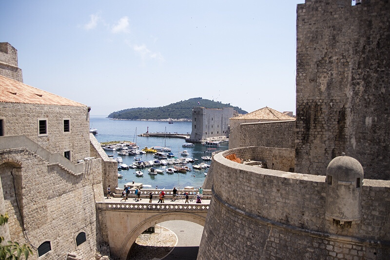 Ancient city walls old town Dubrovnik