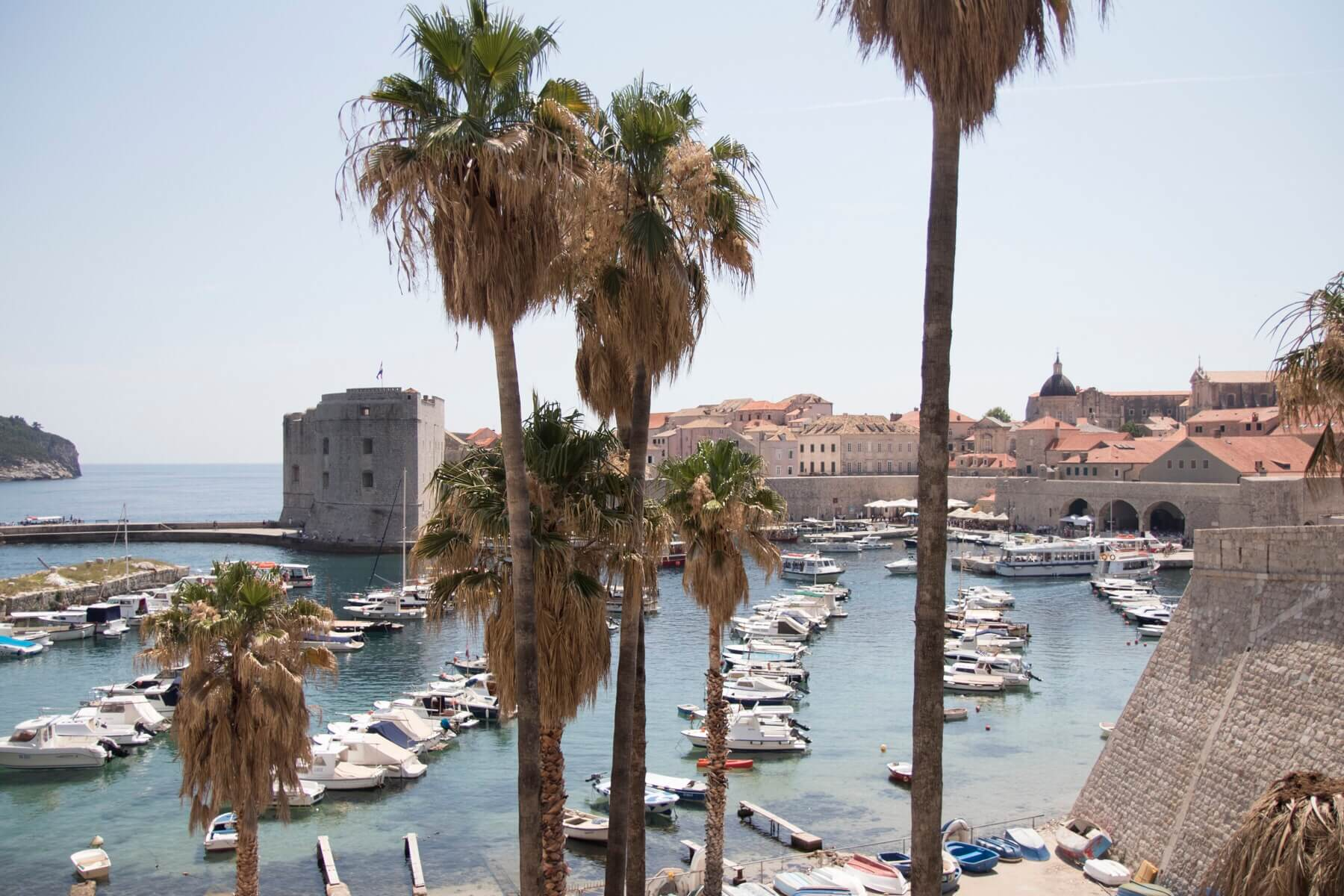 Dubrovnik Old Town Harbour With Boats