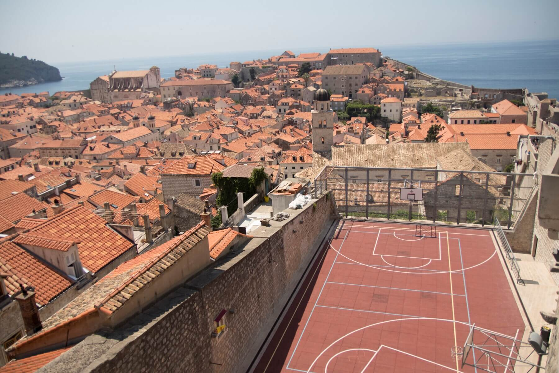 View from city walls Dubrovnik