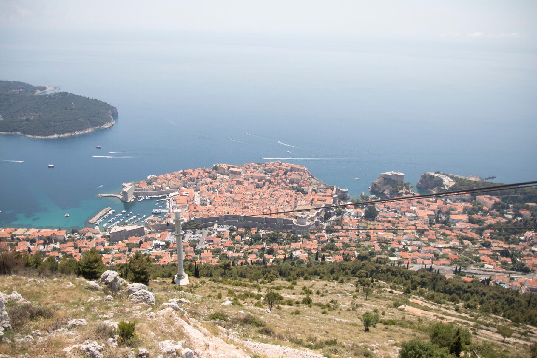 Cable car view Dubrovnik